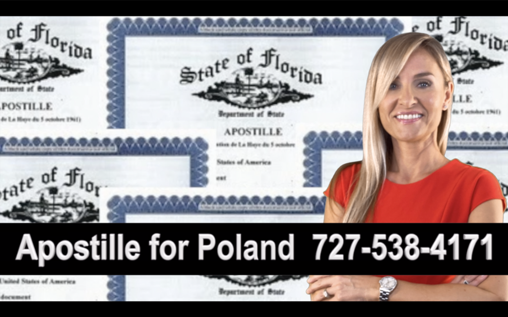Tampa Apostille, Notary, Polish, Polski, Notariusz, Pełnomocnictwo, Power of Attorney, Agnieszka Piasecka, Aga Piasecka
