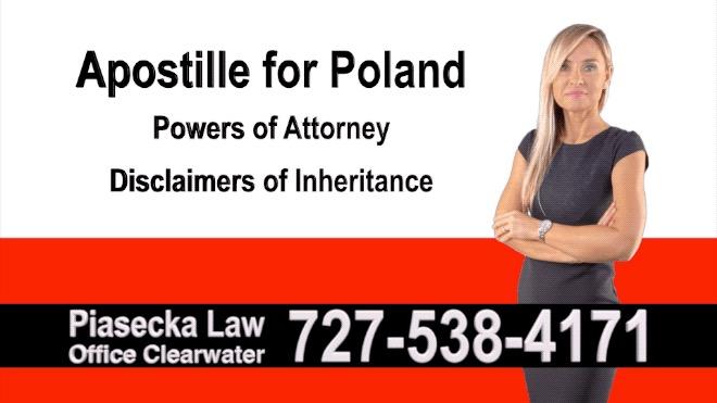 Venice Apostille, Notary, Polish, Polski, Notariusz, Pełnomocnictwo, Power of Attorney, Agnieszka Piasecka, Aga Piasecka