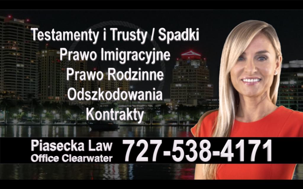 Ellenton Polski, Prawnik, Adwokat, Testamenty, Trusty, Testament, Trust, Prawo, Spadkowe, Imigracyjne, Rodzinne, Rozwód, Wypadki, Agnieszka Piasecka