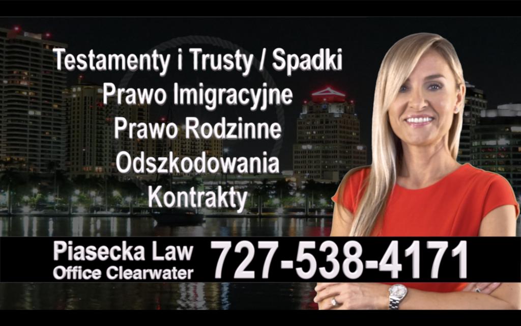 Temple Terrace Polski, Prawnik, Adwokat, Testamenty, Trusty, Testament, Trust, Prawo, Spadkowe, Imigracyjne, Rodzinne, Rozwód, Wypadki, Agnieszka Piasecka