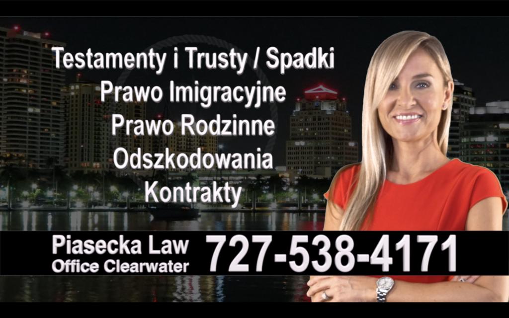 Venice Polski, Prawnik, Adwokat, Testamenty, Trusty, Testament, Trust, Prawo, Spadkowe, Imigracyjne, Rodzinne, Rozwód, Wypadki, Agnieszka Piasecka