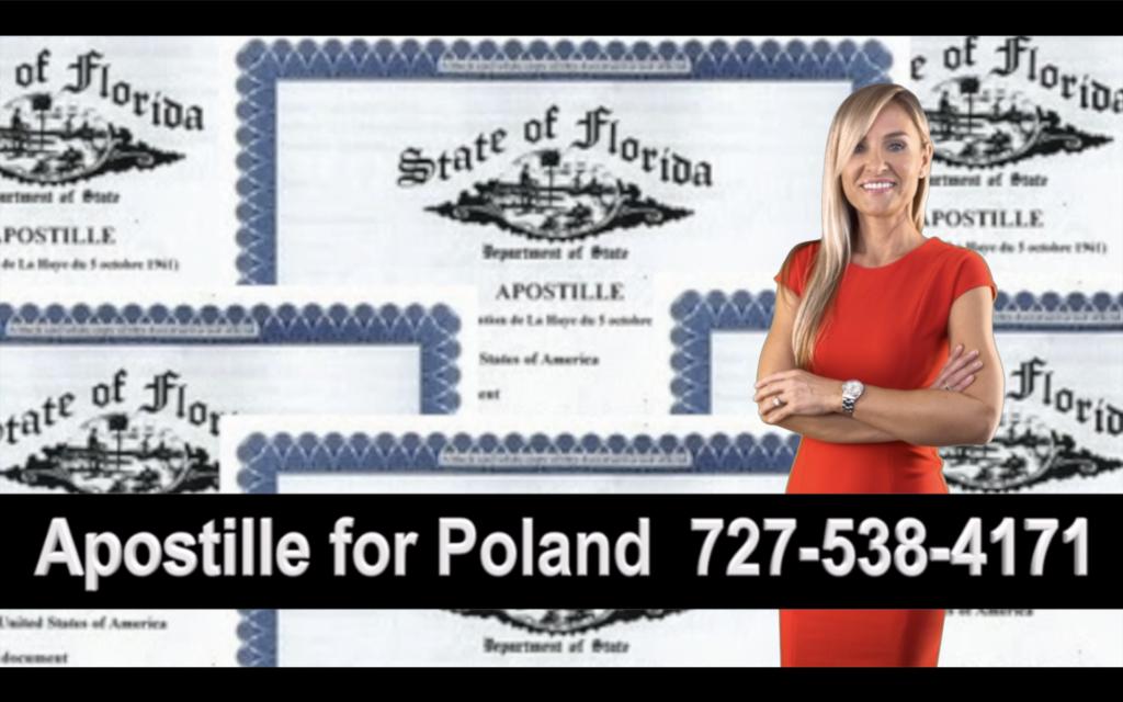 Seminole Apostille, Notary, Polish, Polski, Notariusz, Pełnomocnictwo, Power of Attorney, Agnieszka Piasecka, Aga Piasecka