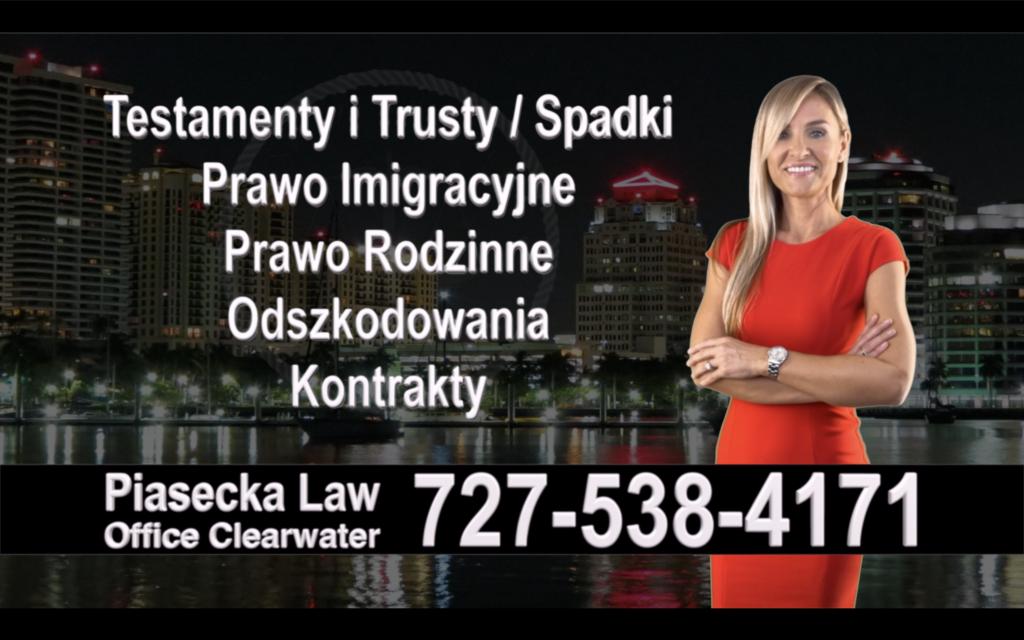 Bonita Springs Polski, Prawnik, Adwokat, Testamenty, Trusty, Testament, Trust, Prawo, Spadkowe, Imigracyjne, Rodzinne, Rozwód, Wypadki, Agnieszka Piasecka