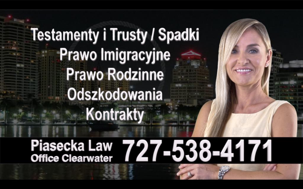 Fort Myers Polski, Prawnik, Adwokat, Testamenty, Trusty, Testament, Trust, Prawo, Spadkowe, Imigracyjne, Rodzinne, Rozwód, Wypadki, Agnieszka Piasecka