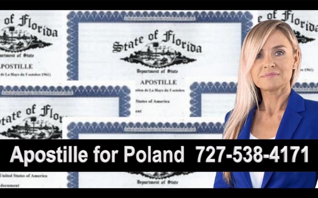 Redington Shores  Apostille, Notary, Polish, Polski, Notariusz, Pełnomocnictwo, Power of Attorney, Agnieszka Piasecka, Aga Piasecka