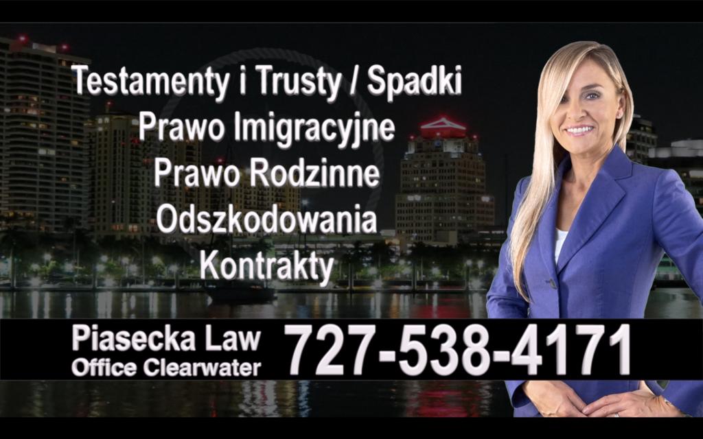 Clearwater Polski, Prawnik, Adwokat, Testamenty, Trusty, Testament, Trust, Prawo, Spadkowe, Imigracyjne, Rodzinne, Rozwód, Wypadki, Agnieszka Piasecka