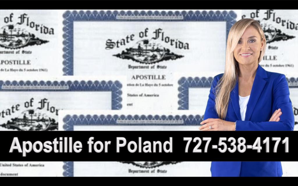 Punta Gorda Apostille, Notary, Polish, Polski, Notariusz, Pełnomocnictwo, Power of Attorney, Agnieszka Piasecka, Aga Piasecka