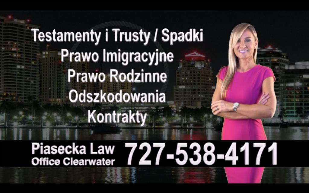 Citrus Park Polski, Prawnik, Adwokat, Testamenty, Trusty, Testament, Trust, Prawo, Spadkowe, Imigracyjne, Rodzinne, Rozwód, Wypadki, Agnieszka Piasecka