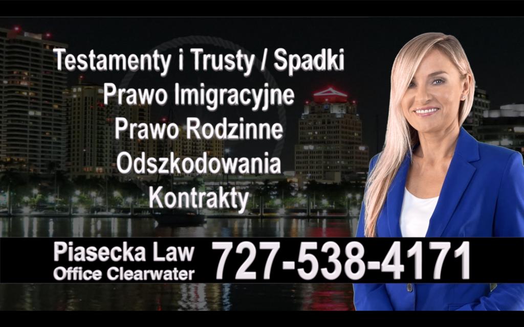 Jacksonville, Polski, Prawnik, Adwokat, Testamenty, Trusty, Testament, Trust, Prawo, Spadkowe, Imigracyjne, Rodzinne, Rozwód, Wypadki, Agnieszka Piasecka