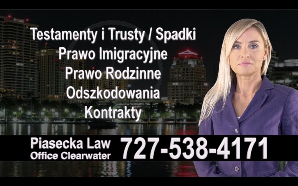 Clermont Polski, Prawnik, Adwokat, Testamenty, Trusty, Testament, Trust, Prawo, Spadkowe, Imigracyjne, Rodzinne, Rozwód, Wypadki, Agnieszka Piasecka