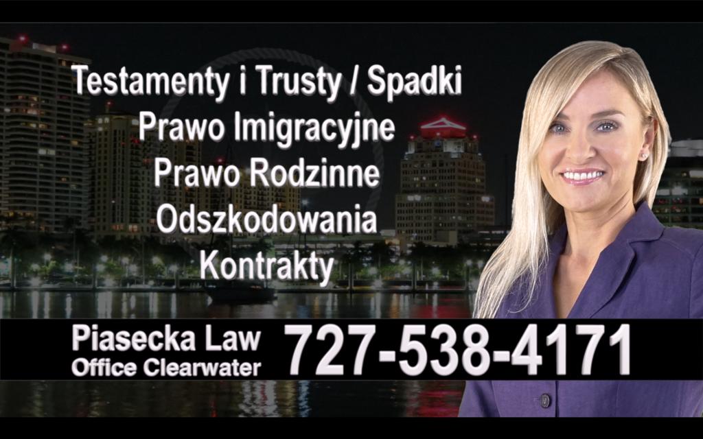 Polski, Prawnik, Adwokat, Testamenty, Trusty, Testament, Trust, Prawo, Spadkowe, Imigracyjne, Rodzinne, Rozwód, Wypadki, Agnieszka Piasecka