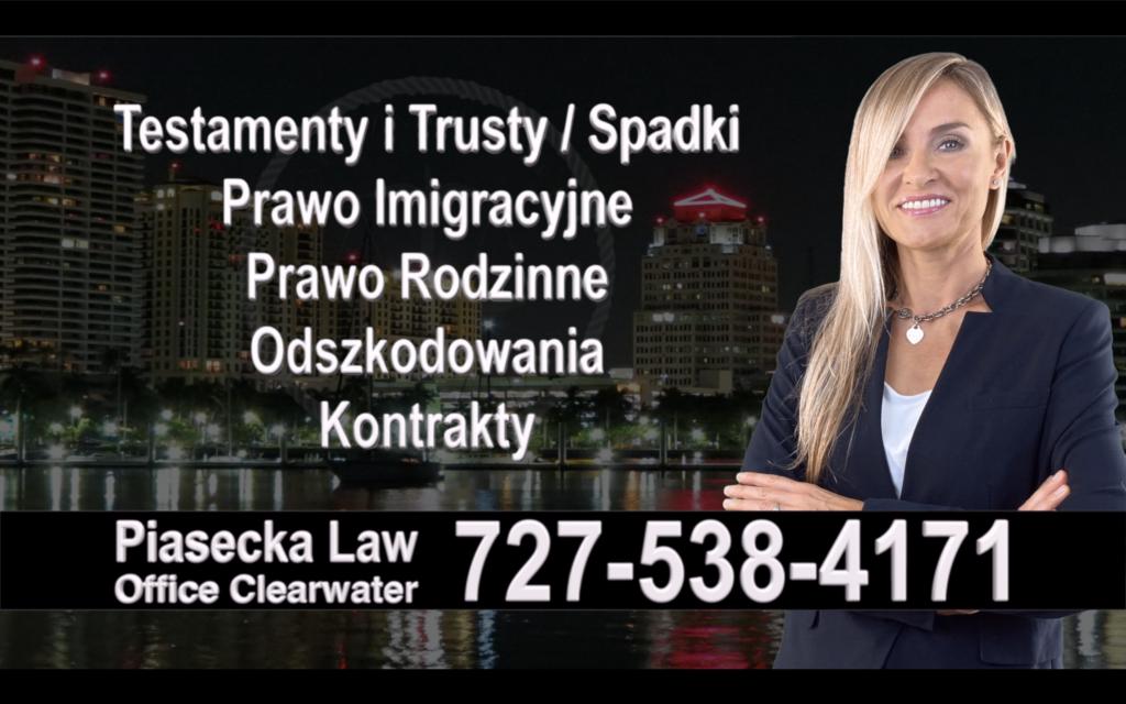 Brooksville Polski, Prawnik, Adwokat, Testamenty, Trusty, Testament, Trust, Prawo, Spadkowe, Imigracyjne, Rodzinne, Rozwód, Wypadki, Agnieszka Piasecka