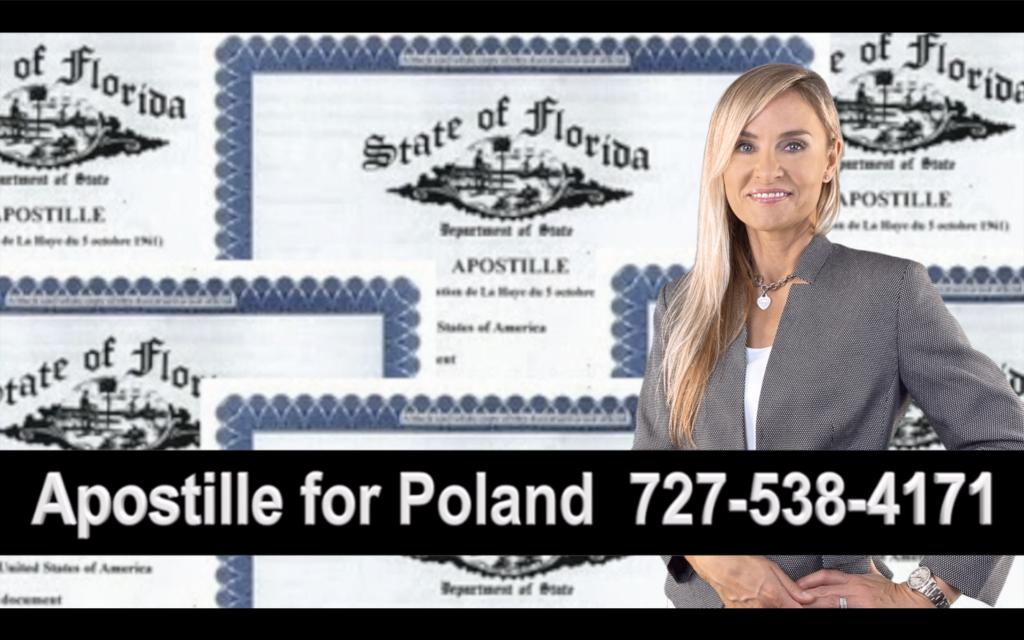 Gibsonton Apostille, Notary, Polish, Polski, Notariusz, Pełnomocnictwo, Power of Attorney, Agnieszka Piasecka, Aga Piasecka