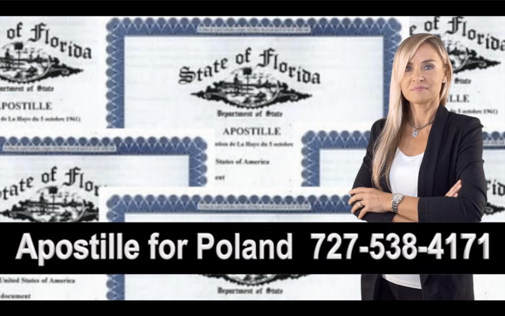 Land O'Lakes, Apostille, Notary, Polish, Polski, Notariusz, Pełnomocnictwo, Power of Attorney, Agnieszka Piasecka, Aga Piasecka