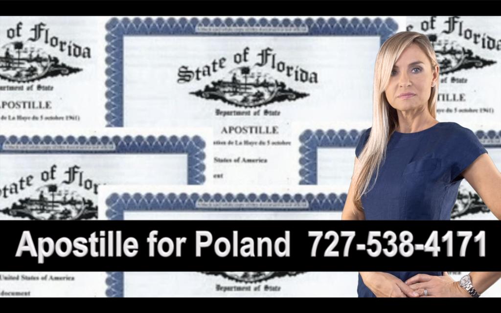 Lake Wales, Apostille, Notary, Polish, Polski, Notariusz, Pełnomocnictwo, Power of Attorney, Agnieszka Piasecka, Aga Piasecka