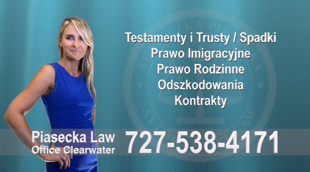 Thonotosassa Polski, Adwokat, Prawnik, Clearwater, Florida, Agnieszka, Aga, Piasecka