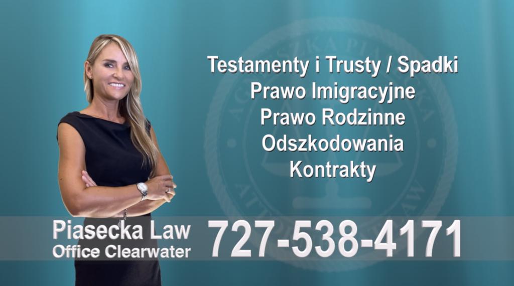 Gibsonton Testamenty, Trusty, Spadki, Prawo, Imigracyjne, Rodzinne, Odszkodowania, Wypadki, Kontrakty, Polski, Prawnik, Adwokat, Floryda, USA Polscy prawnicy