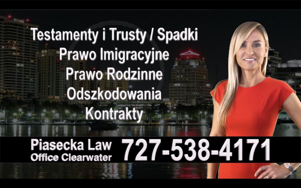 Belleair Polski, Prawnik, Adwokat, Testamenty, Trusty, Testament, Trust, Prawo, Spadkowe, Imigracyjne, Rodzinne, Rozwód, Wypadki, Agnieszka Piasecka