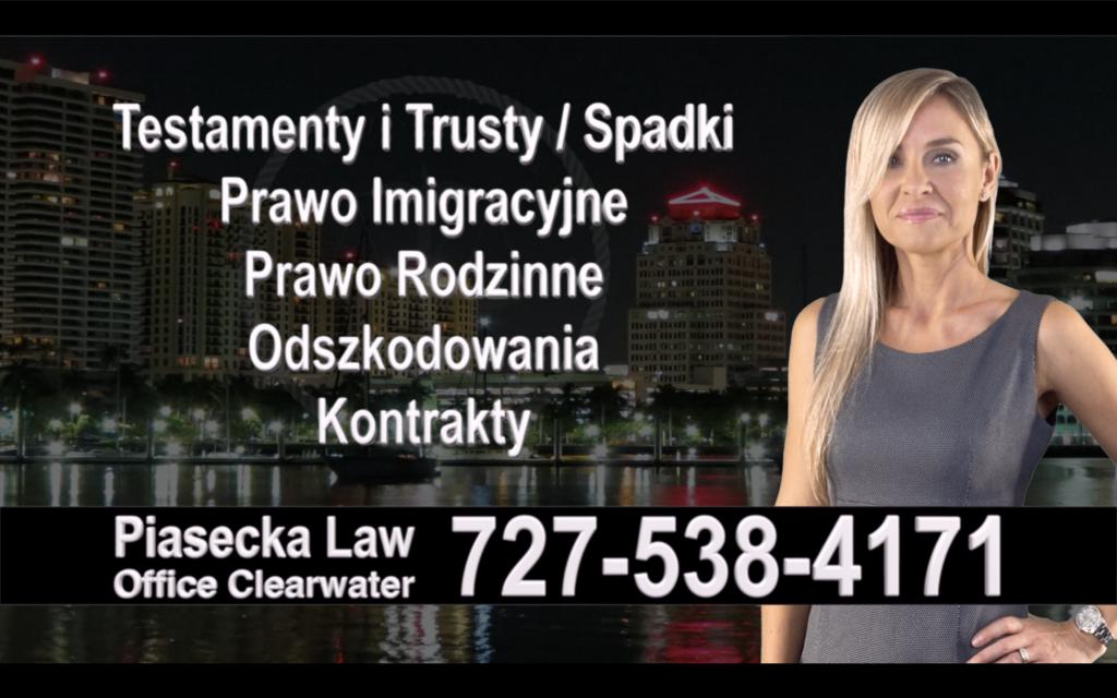 Oldsmar Polski, Prawnik, Adwokat, Testamenty, Trusty, Testament, Trust, Prawo, Spadkowe, Imigracyjne, Rodzinne, Rozwód, Wypadki, Agnieszka Piasecka