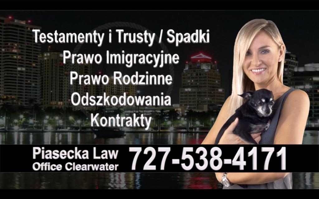 Safety Harbor Polski, Prawnik, Adwokat, Testamenty, Trusty, Testament, Trust, Prawo, Spadkowe, Imigracyjne, Rodzinne, Rozwód, Wypadki, Agnieszka Piasecka