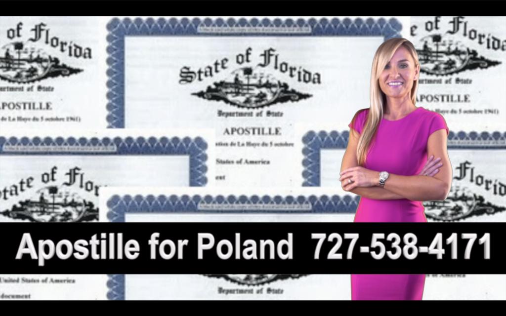 Oldsmar Apostille, Notary, Polish, Polski, Notariusz, Pełnomocnictwo, Power of Attorney, Agnieszka Piasecka, Aga Piasecka